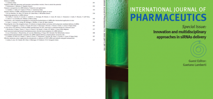 Pubblicato il numero speciale di International Journal of Pharmaceutics